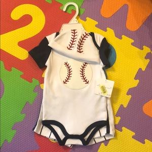 NWT Baseball outfit size 9 months